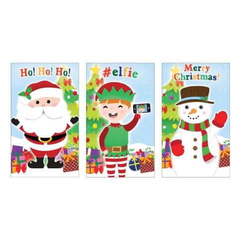 Christmas Xmas Notebook Notepad Jotter Boys Girls Stocking Party Bag Fillers